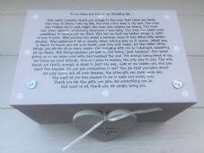 Shabby Personalised Chic Mother & Father Of The Bride Wedding Gift LARGE Box - 232211312201